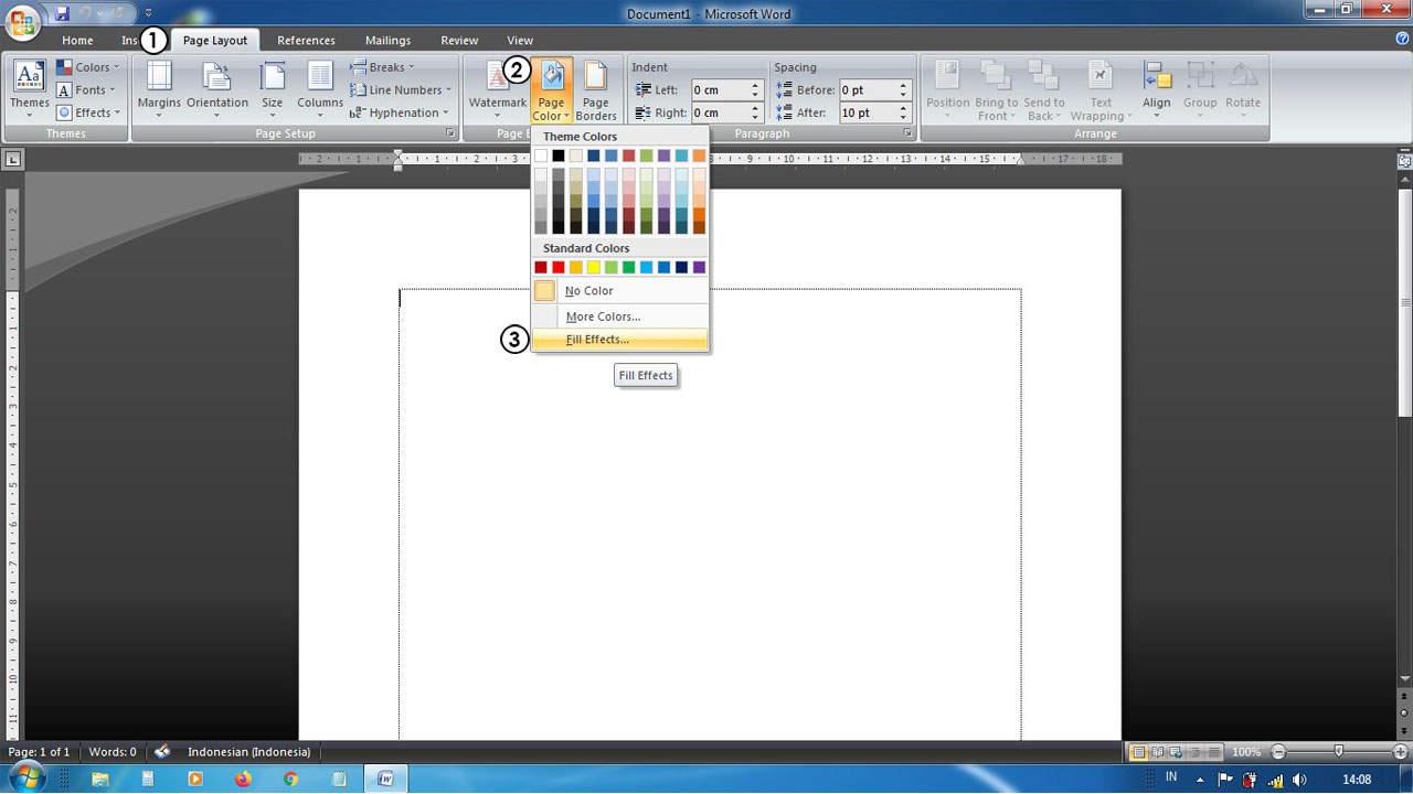 Cara Membuat Background di Word Dengan Gambar Menarik